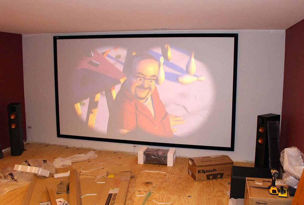 Projector and 7.1 Surround Sound Installation