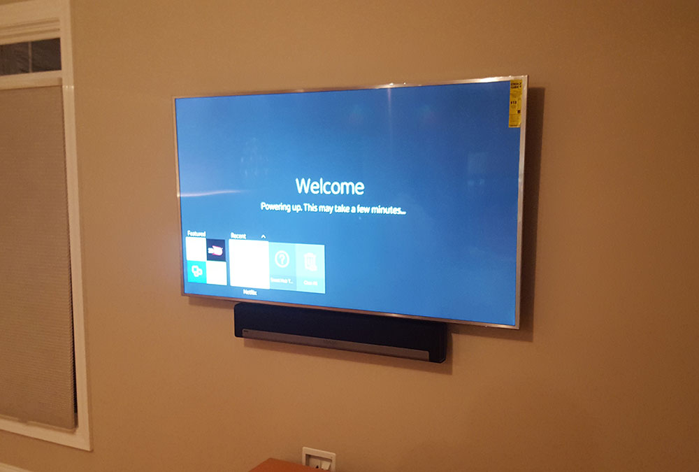 LED TV Mounting with Sonos Soundbar