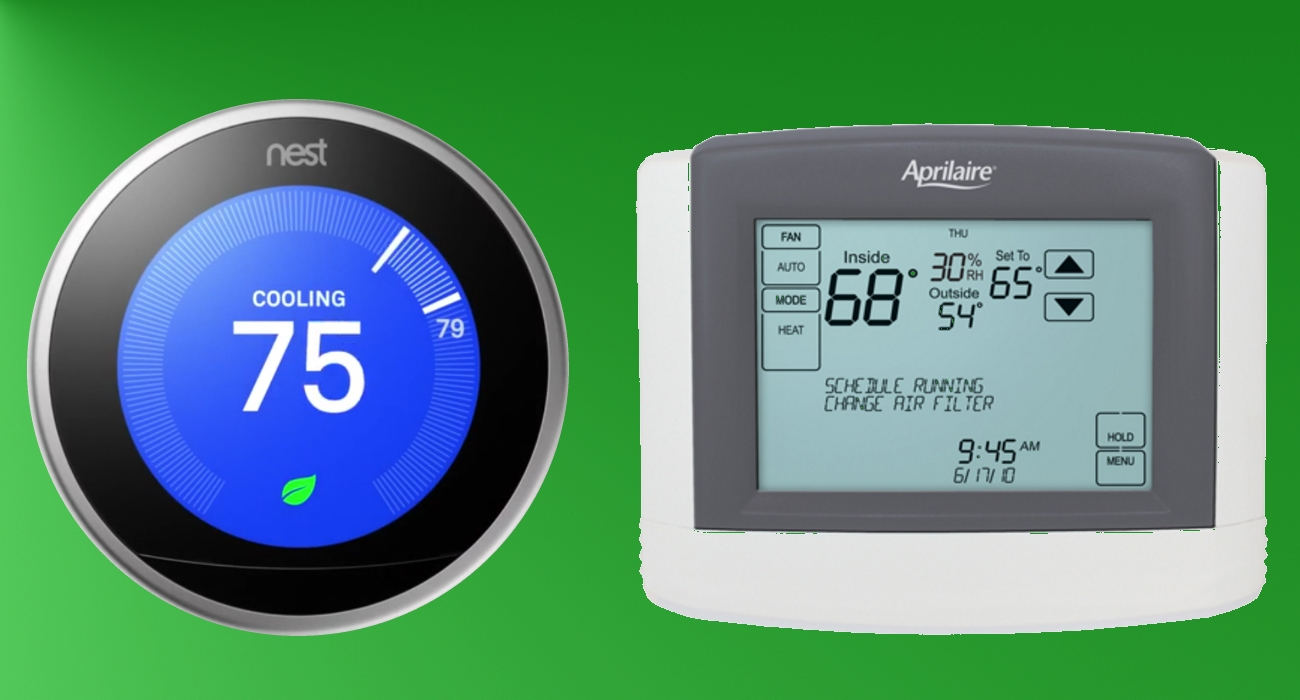 smart thermostats nest vs aprilaire. Black Bedroom Furniture Sets. Home Design Ideas